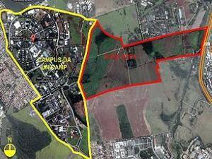Mapa de área comprada pela Unicamp (Foto: Reprodução / Unicamp)
