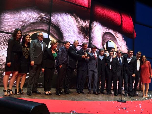 A TV Globo foi a vencedora do Caboré 2015 na categoria Veículo de comunicação  (Foto: Darlan Alvarenga/G1)