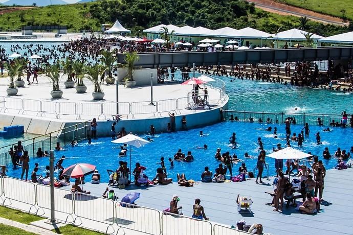 Canoagem Slalom piscinão de Deodoro (Foto: Renato Sette Câmara/Prefeitura do Rio)