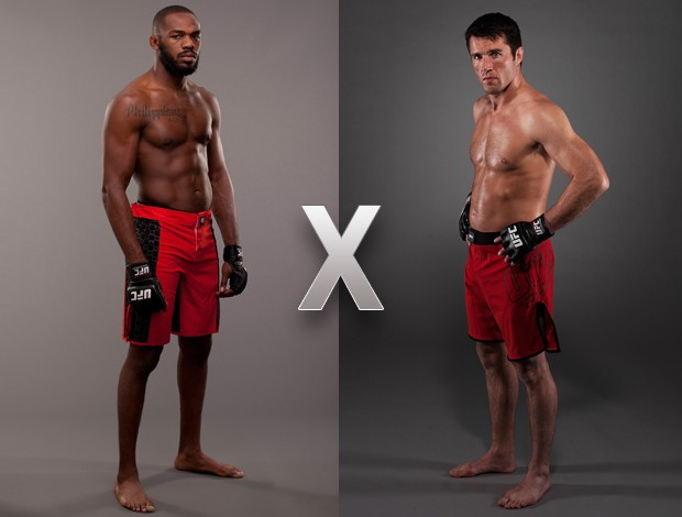 MONTAGEM - UFC Jon jones e chael sonnen (Foto: Agência Getty Images)