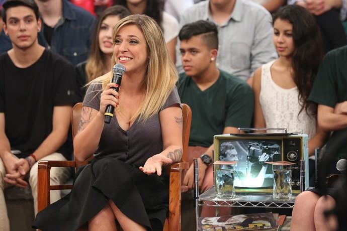 Júlia Rabello no Altas Horas (Foto: Carol Caminha/Gshow)