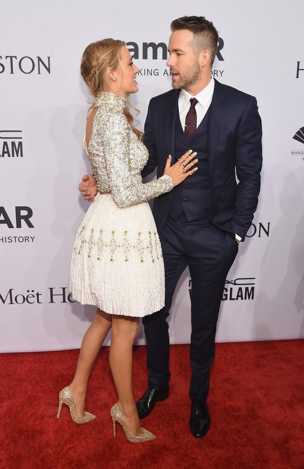Blake Lively e Ryan Reynolds em evento em Nova York, nos Estados Unidos (Foto: Michael Loccisano/ Getty Images/ AFP)