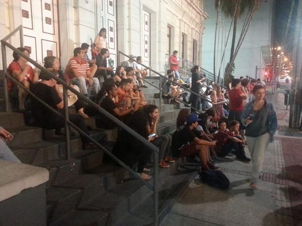 Ato contra Cunha e Temer (Foto: Rafael Antunes/G1)