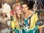 Enzo Celulari vai às Campeãs com a namorada: 'Pegou gosto pela coisa'