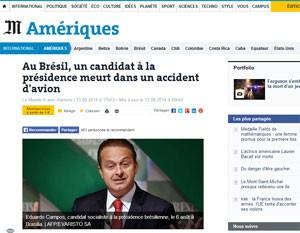 Jornal francês 'Le Monde' lembrou do desempenho de Marina Silva em 2010. (Foto: Reprodução)