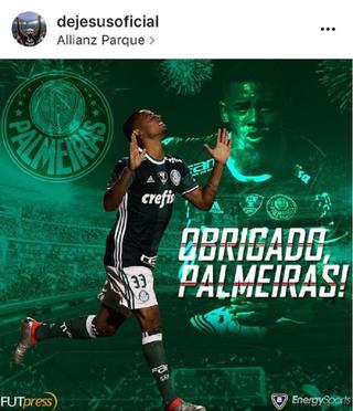 Gabriel Jesus Palmeiras (Foto: Reprodução/Instagram)