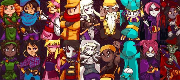 Metade dos personagens de 'TowerFall' é feminina. E todos eles brincam de maneira natural e divertida com convenções de gênero (Foto: Reprodução/TowerFall)