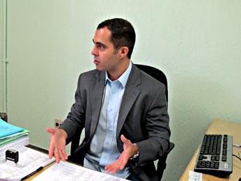 O delegado da DRFV Rafael Ferreira (Foto: Lucas Nanini/G1)