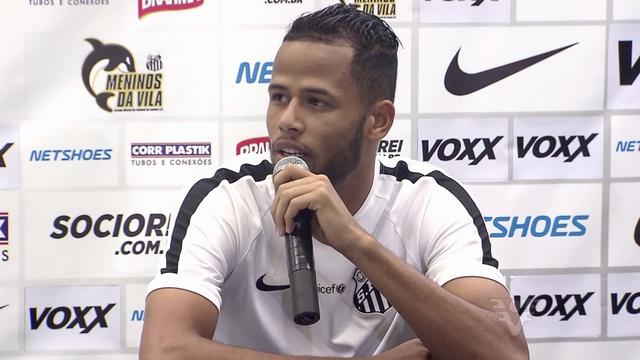 Jogador Geuvânio, atacante do Santos (Foto: Reprodução/TV Tribuna)