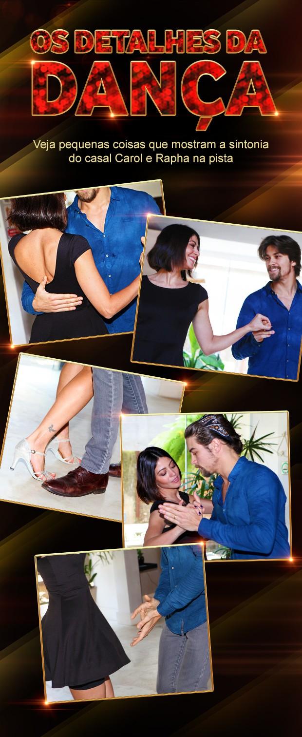 Os detalhes da dança de Carol Castro e Raphael Sander (Foto: Bella Scovino / Gshow)