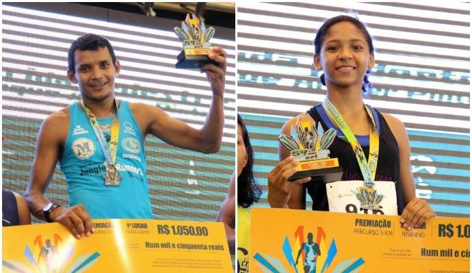 Dionisio Cosme e Ana Paula venceram na categoria 5 Km (Foto: Marcos Dantas)
