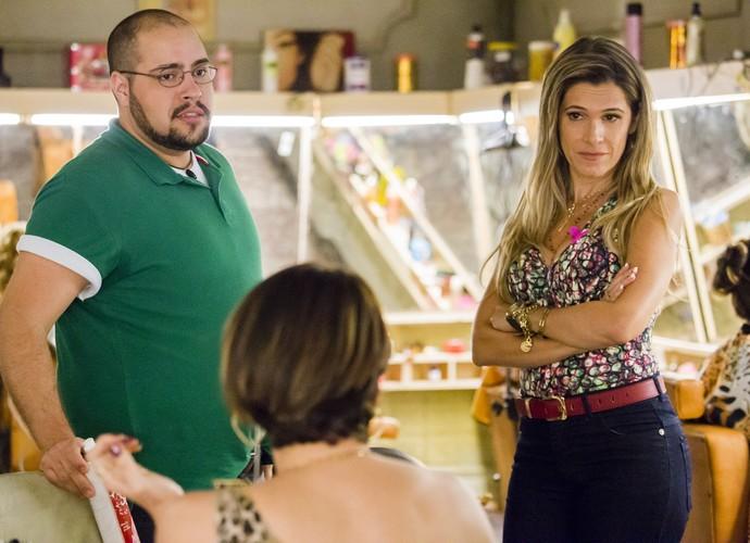 Amigos, Marlene e Fran causaram no salão de beleza (Foto: Tata Barreto/ TV Globo)
