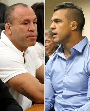 Montagem UFC, Wanderlei Silva, Belfort e Sonnen (Foto: Editoria de arte)