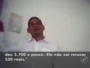 Imagens feitas por câmera escondida mostram negociações (Foto: reprodução/TV Tem)