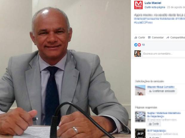 Lula Maciel (PT) é secretário de governo em Lauro de Freitas (Foto: Reprodução / Facebook)