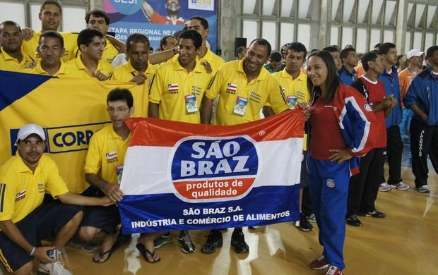 Delegação paraibana nos Jogos dos Industriários (Foto: Divulgação)