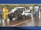 Acidente com caminhonete da Copasa mata motorista na BR-265