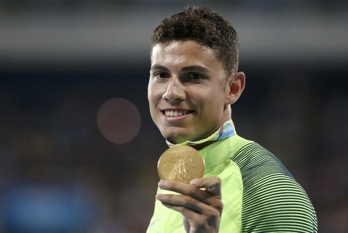 Thiago Braz, salto com vara, medalha de ouro, Brasil, Olimpíada (Foto: REUTERS/Edgard Garrido)