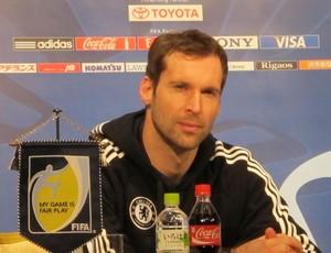 Petr Cech, do Chelsea, em coletiva (Foto: Cahê Mota / Globoesporte.com)