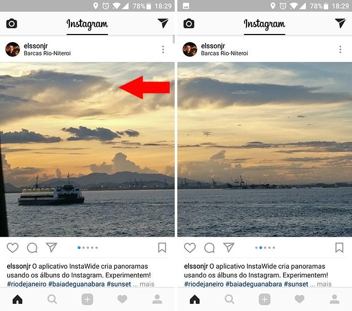 Instagram publicará panorama em formato de álbum (Foto: Reprodução/Elson de Souza)