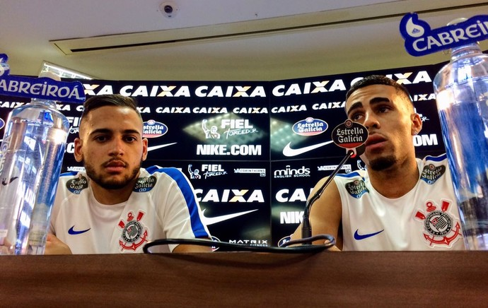 Gabriel e Maycon Corinthians (Foto: Diogo Venturelli)