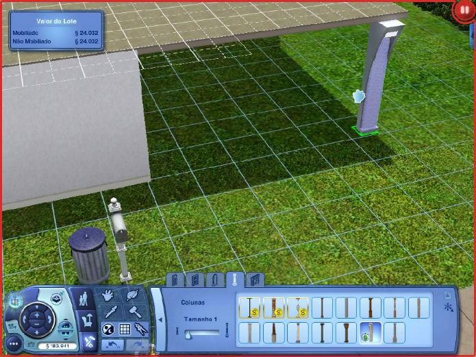 The Sims 3 No Futuro: Telhados suspensos (Imagem: Reprodução/Lílian Moreira)