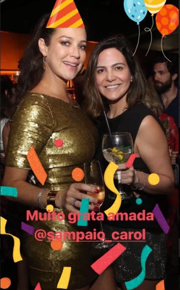 Luana Piovani e Carol Sampaio (Foto: Reprodução)