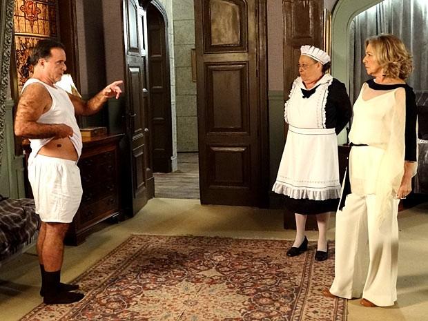 Dominguinhos diz que todos os homens da família tem a marca de nascença (Foto: Guerra dos Sexos / TV Globo)