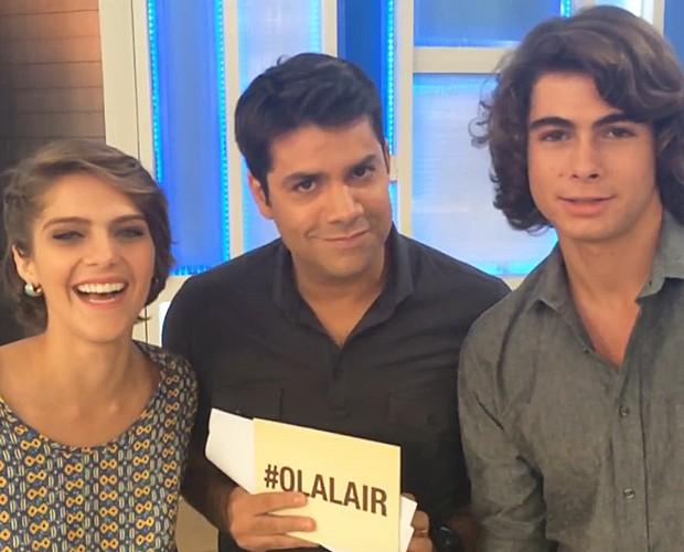 O casal Perina de Malhação deixou a entender que são mais do que amigos na vida real (Foto: TV Globo)
