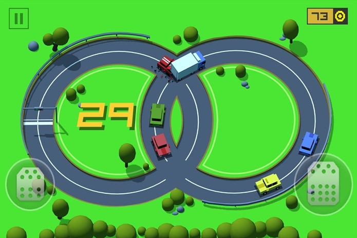 Loop Drive é um divertido jogo com comandos simples (Foto: Divulgação)