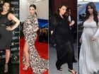 Veja os melhores e os piores looks de Kim Kardashian durante a gravidez