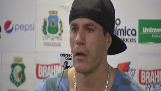 Michel chora ao se despedir do Ceará (Foto: Reprodução/TV Verdes Mares)
