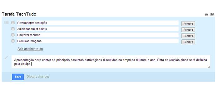 Escreva tópicos e anotações de seu interesse (Foto: Reprodução/Paulo Alves)
