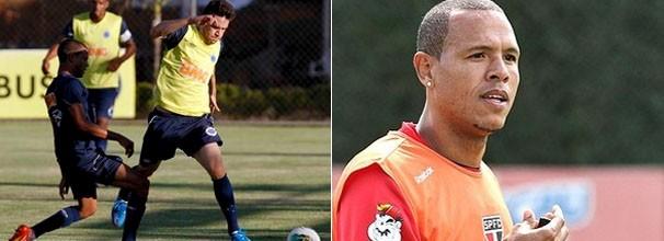 Jogadores do Cruzeiro treinam; Luis Fabiano volta ao time do São Paulo (Foto: Washington Alves / Luiz Pires / VIPCOMM / Reprodução: Globoesporte.com)