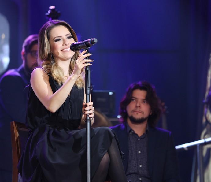 Sandy participa do programa 'Altas Horas' (Foto: Carol Caminha/Gshow)