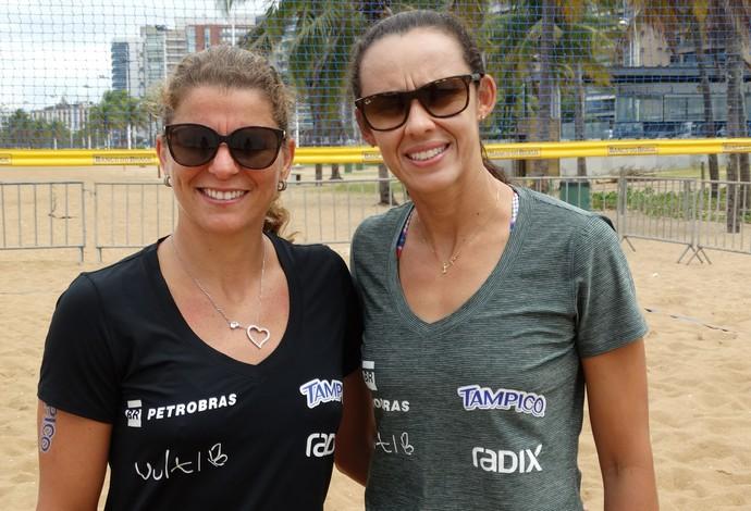 Larissa e Talita após os jogos em Fortaleza (Foto: Divulgação)