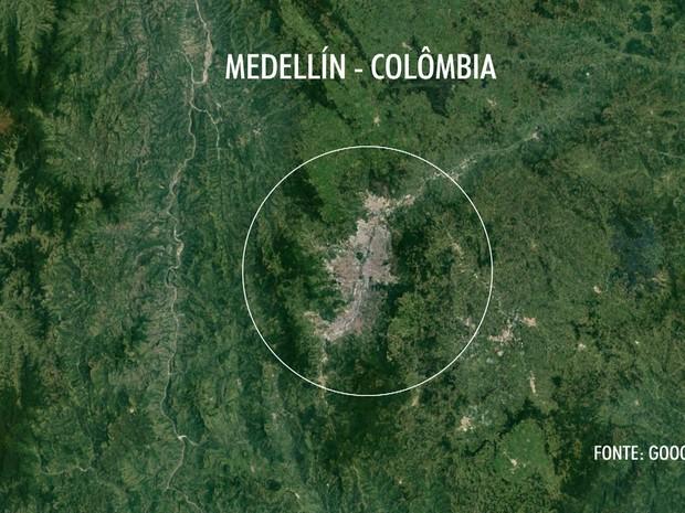 Avião da Chapecoense caiu próximo a Medellín, na Colômbia (Foto: Reprodução/TV Globo)