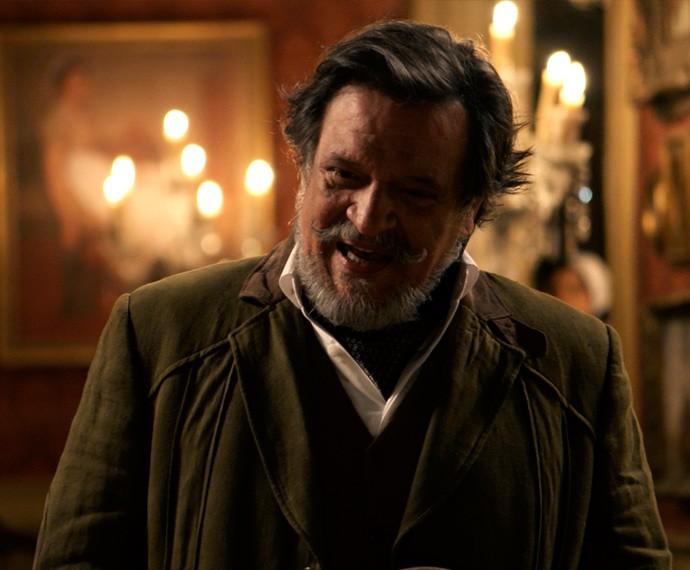 Massimo diz a Felipe que Bianca e Roberto se casarão em duas semanas (Foto: TV Globo)