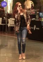 Look do dia: Marina Ruy Barbosa usa animal print em dia de compras no Rio