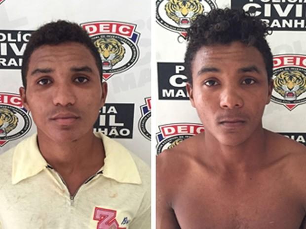 Lucivaldo Ribeiro e Lucivando Ribeir foram presos nos municípios de Matinha e Pedro do Rosário (Foto: Divulgação/Polícia Civil)