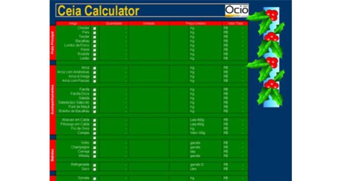 Ceia Calculater (Foto: Reprodução)