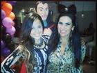 Mesmo com apendagite, Solange Gomes vai à festa no Rio de Janeiro