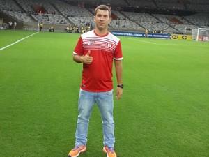 Marco Tulio treinador do time sub-17 do Guarani-MG na Taça BH (Foto: Marco Tulio/Arquivo Pessoal)