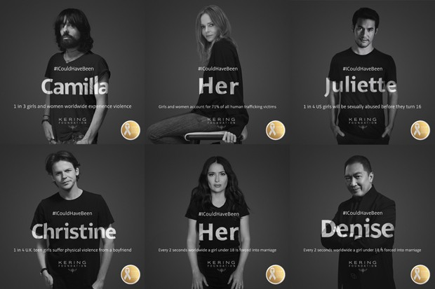 Os embaixadores da campanha #ICouldHaveBeen, criada pela Fundação Kering (Foto: Divulgação) (Foto: Divulgação)