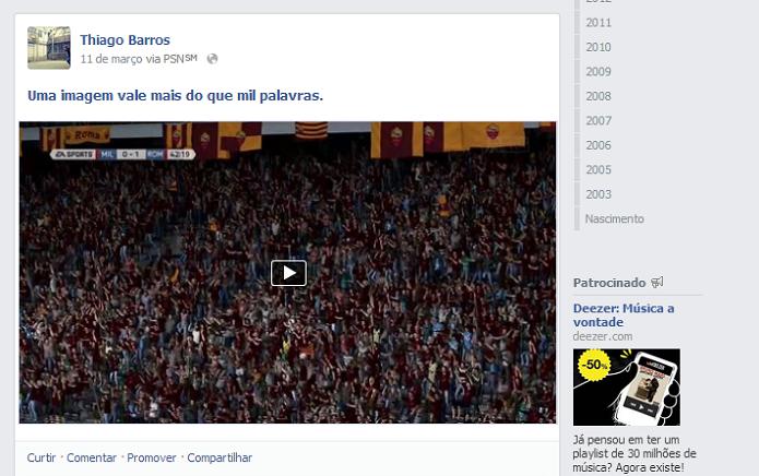 Pegue o link no vídeo do Facebook (Foto: Thiago Barros/TechTudo)