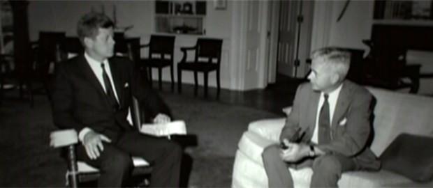 John Kennedy e Lincoln Gordon (Foto: Reprodução/Globo News)