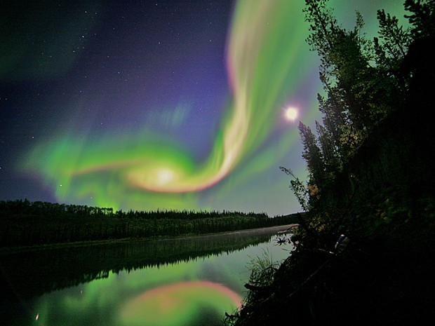 Aurora boreal (Foto: Nasa/David Cartier)