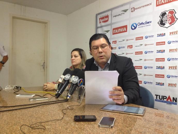 Alírio Moraes presidente Santa Cruz (Foto: Elton de Castro)