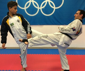 Lucas de Oliveira Santos Taekwondo Divinópolis (Foto: Lucas Santos/Arquivo Pessoal)