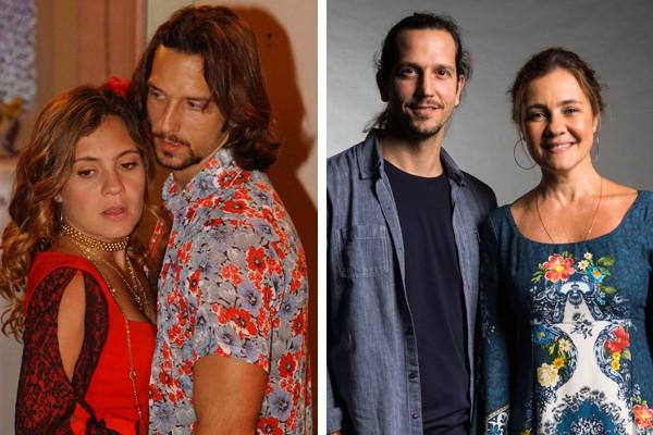 Adriana Esteves e Vladimir Brichta (Foto: Reprodução / TV Globo / Estevam Avellar)